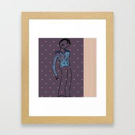 Blue blouse Framed Art Print