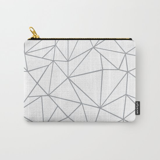 Ab Outline 2 Grey on White Carry-All Pouch
