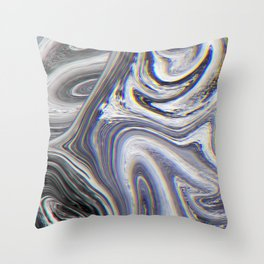 Marble Glitch Pattern II Throw Pillow