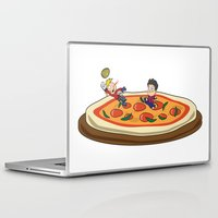 soccer Laptop & iPad Skins featuring Soccer pizza by flydesign