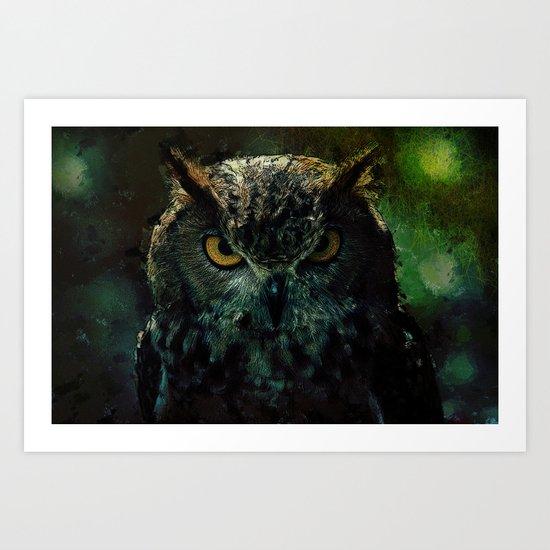 Owl - Owlish Tendencies Art Print