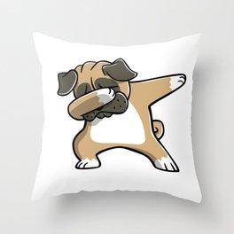Funny Dabbing Pug Dog Dab Dance Throw Pillow