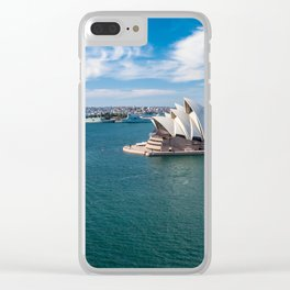 Sydney Harbor and Sydney Opera House Clear iPhone Case