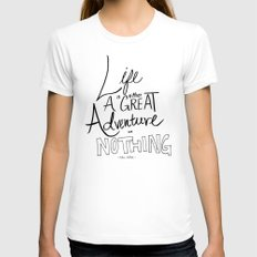 Great Adventure White Womens Fitted Tee MEDIUM