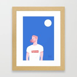 Supreme Man Framed Art Print