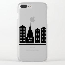 turin skyline Clear iPhone Case