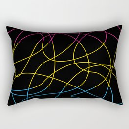 Abstract Threads – Pansexual Pride Flag Rectangular Pillow