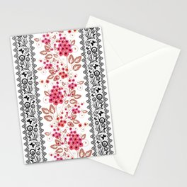 Red flowers . Stationery Cards