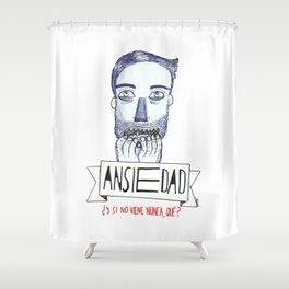 Ansiedad (Anxiety) Shower Curtain