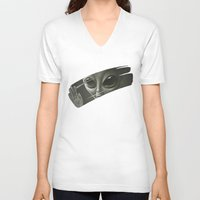 alien V-neck T-shirts featuring Alien by Dr. Lukas Brezak