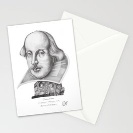 William Shakespeare's Vertical Kind Stationery Cards