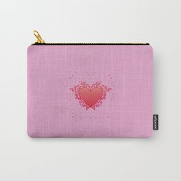 Elegant Red Heart Carry-All Pouch