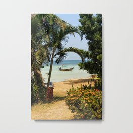Long Tail Boat in Thailand Metal Print