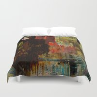 acid Duvet Covers featuring Acid rain by Ganech joe