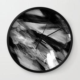 Abstract Artwork Greyscale #1 Wall Clock