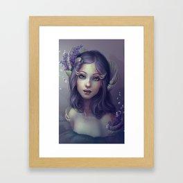 Lavender and Shells Framed Art Print