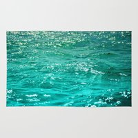 dave grohl Area & Throw Rugs featuring SIMPLY SEA by Catspaws