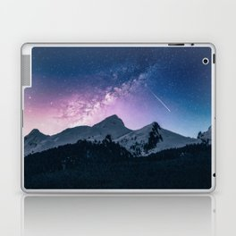 Shooting Star Over The Mountains Laptop & iPad Skin