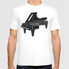 Music Is The Key B Mens Fitted Tee White SMALL