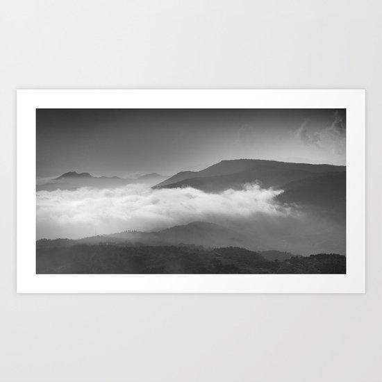Aerial mist Art Print
