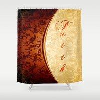 faith Shower Curtains featuring Faith by Robin Curtiss