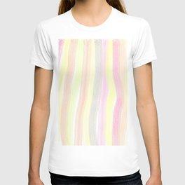 Striped color scheme T-shirt