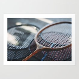 Tennis Rackets Art Print
