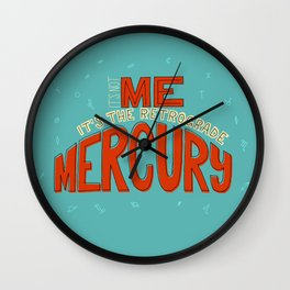 Retrograde Mercury Wall Clock