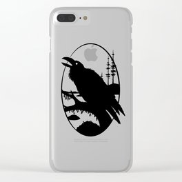 Raven Silhouette IV Clear iPhone Case