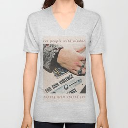 treat people with kindness Unisex V-Neck