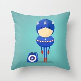 Captain A: My dreaming hero! Throw Pillow