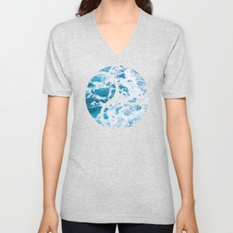 Perfect Ocean Sea Waves Unisex V-Neck