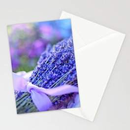 Lavender Bouquet in Springtime Stationery Cards