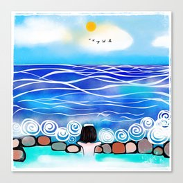 Onsen by the sea Canvas Print