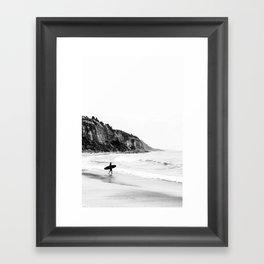 Surfer heads out II Framed Art Print