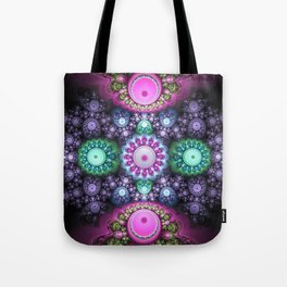 Decorative round patterns, fractal abstract Tote Bag