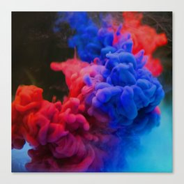 Colorful Smoke Screen Canvas Print