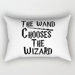 The wand chooses the wizard Rectangular Pillow