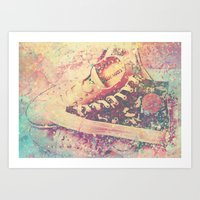 converse Art Prints featuring Converse by Nechifor Ionut