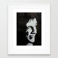 iggy pop Framed Art Prints featuring Iggy Pop by badashh