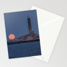 North Tower Blue Moon Rise Stationery Cards
