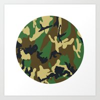 military Art Prints featuring Military - Camouflage by Three of the Possessed