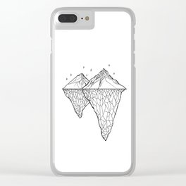Crystal Mountains Clear iPhone Case