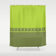 Chartreuse Spring Shower Curtain