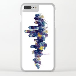 Detroit Skyline Silhouette Clear iPhone Case