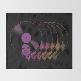 Afrovinyl Continuum Throw Blanket