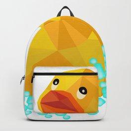 Ducky geometric Yellow funny art Backpack