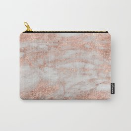 Martino rose gold marble Carry-All Pouch