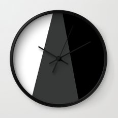 Black White and Gray Abstract 3 Wall Clock