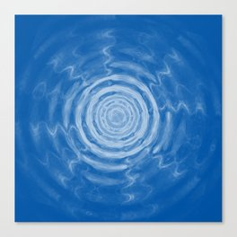 Ripples_blue Canvas Print